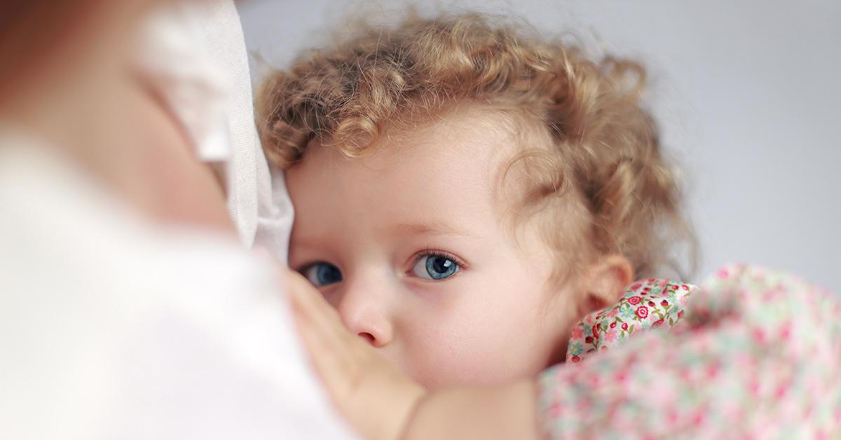 child breastfeeding