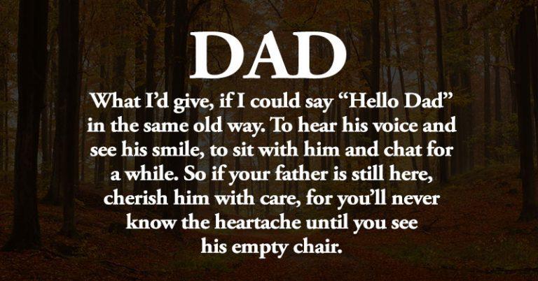 hello dad quote