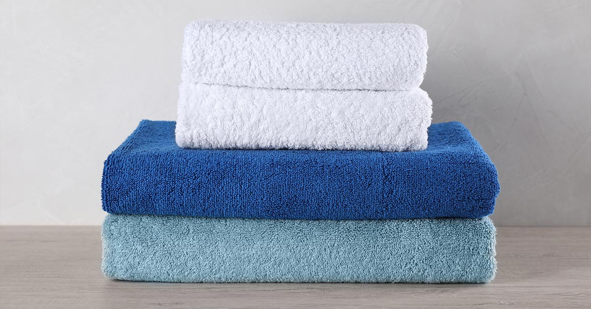 stacked folded towels