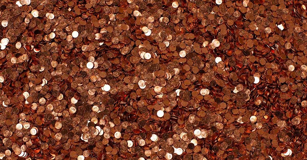 thousands of pennies